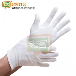 白色纯棉手套 12双/打 HK11910