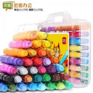 得力deli 72078  36色儿童水溶性可水洗蜡笔绘画笔炫彩棒旋