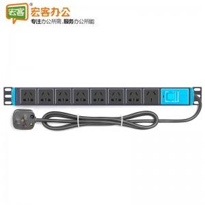 公牛BULL GNE-1080  PDU机柜插座8位带开关带指示灯10A/16A大功率全长1.8米 机房插板