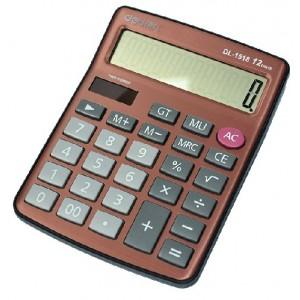 得力deli 1518 太阳能大按键双电源计算器