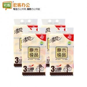 清风BR38SC2 原木纯品200抽纸巾(206*136mm小原木)