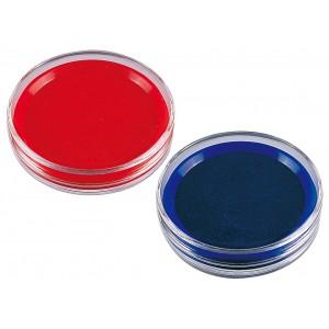 得力Deli 9863 快干印台 红色 蓝色