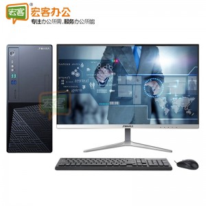 清华同方 超越E500 商用台式电脑 i5-9400/8G/128G+1TB/21.5WLED-23.8WLED可选