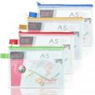 得力Deli 5591 A5网格拉链袋/资料袋/文件袋/票据袋
