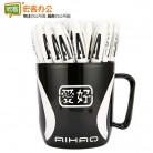 爱好AH801 0.5mm   中性笔/黑色签字笔/创意A字笔(黑)