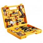 得力deli 3702 25件套多用途组合五金工具套装百宝箱