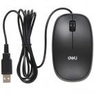 得力deli 3715 1000dpi 手感型有线鼠标 USB