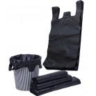 33*53cm 手提式新料垃圾袋 背心垃圾袋 黑色