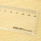得力Deli 6260 60cm透明塑料有机直尺/绘图仪尺