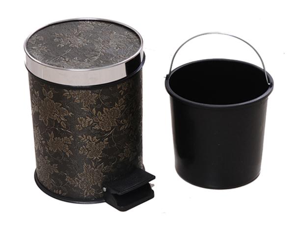 不锈钢盖桶脚踏式垃圾桶