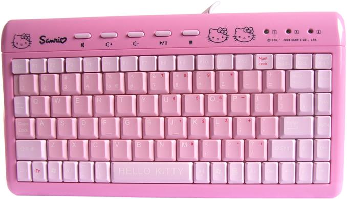 粉色键盘举牌素材