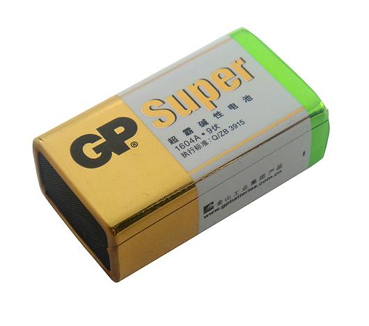 9v gp1604a-l1碱性高容量子卡装电池图片